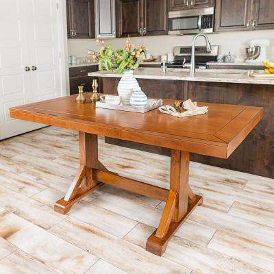 Antique Brown 60 in. Millwright Wood Dining Table