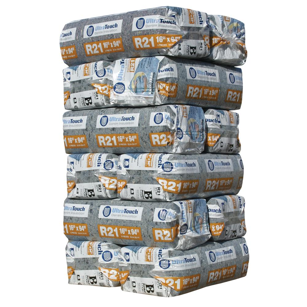 UltraTouch R-21 Denim Insulation Batts 16.25 in. x 94 in. (12-Bags)