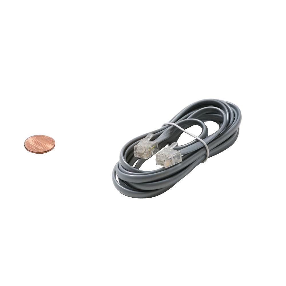Steren 25 ft. 4C Data Modular Cable - Silver-ST-304-725SL - The ...