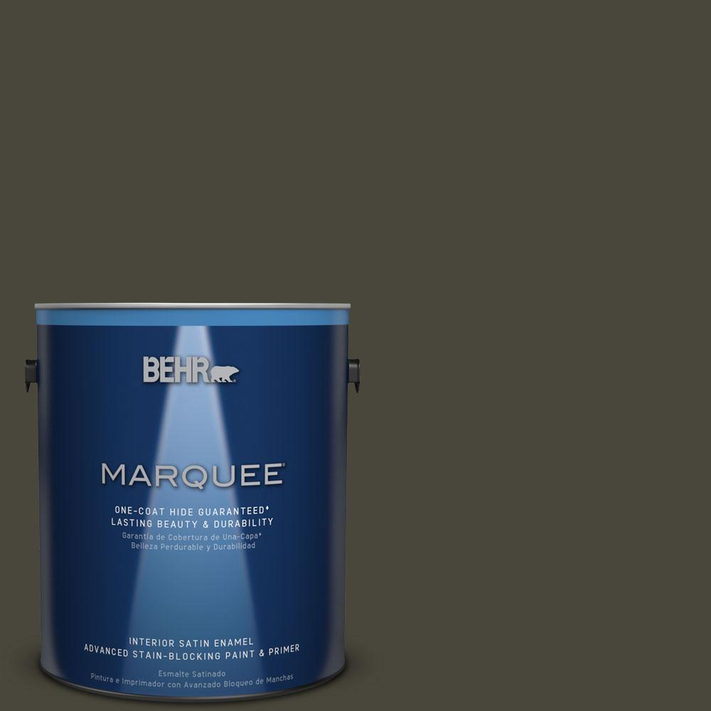 1 gal. #T16-01 Black Pearl Interior Satin Enamel Paint