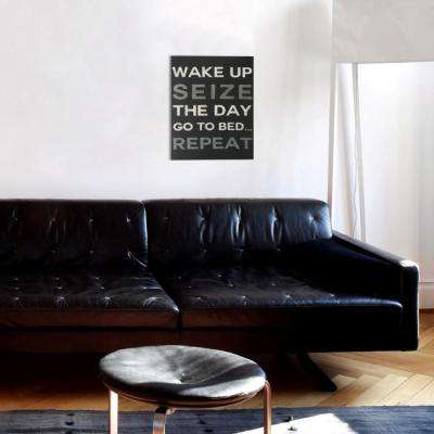 "16 in. x 20 in. ""Seize the Day Charcoal"" By Wynwood Studio Canvas Wall Art"