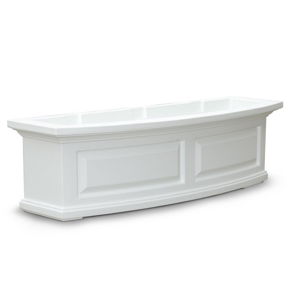 36 in. x 11.5 in. White Plastic Window Box