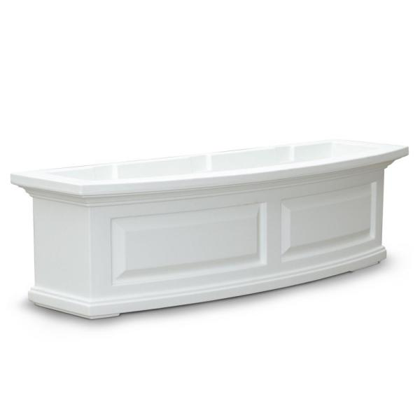 36 in. x 11.5 in. White Plastic Window Box