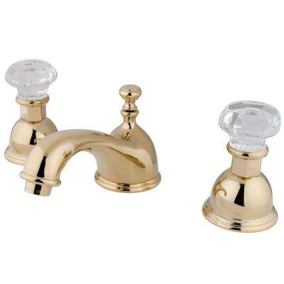 Celebrity 8 in. Widespread 2-Handle Mid-Arc Bathroom Faucet in Polished Brass
