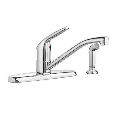 Colony Choice Single-Handle Standard Kitchen Faucet with Side Sprayer with 1.5 gpm in Polished Chrome