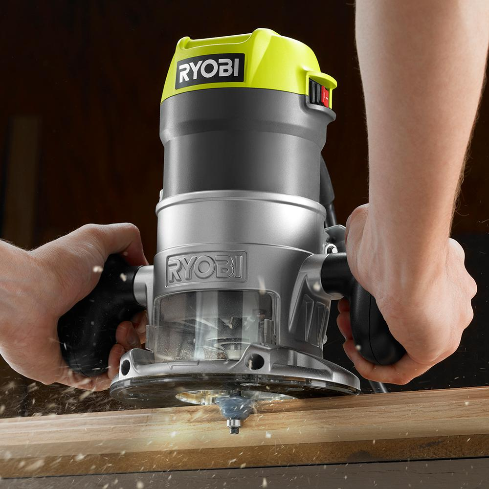 Ryobi 8 5 Amp 1 1 2 Peak Hp Fixed Base Router