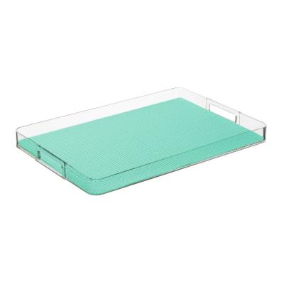Fishnet Limpet Shell 19 in.W x 1.5 in.H x 13 in.D Rectangular Lucite Serving Tray