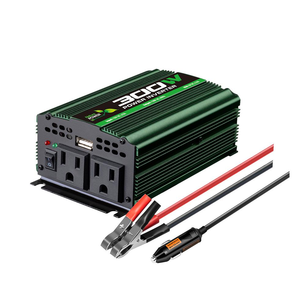 Nature Power 300-Watt Battery Powered Inverter