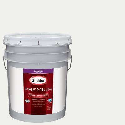 5 gal. #NFL-133E Tampa Bay Buccaneers White Eggshell Interior Paint with Primer