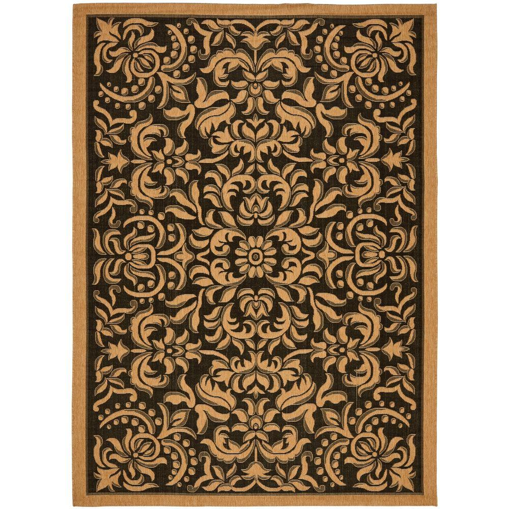 Safavieh Outdoor: Safavieh Courtyard Black/Natural 4 Ft. X 5 Ft. 7 In