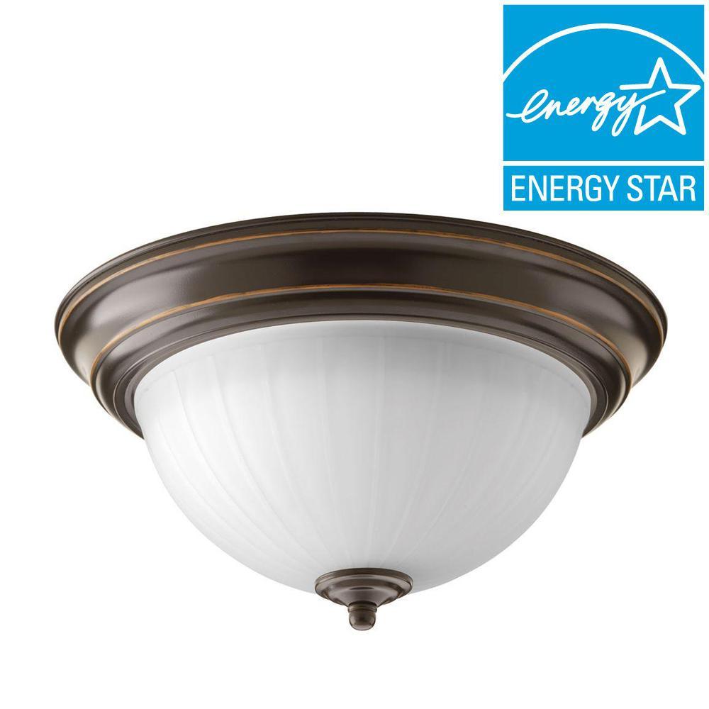 Progress Lighting 1-Light Antique Bronze LED Flushmount