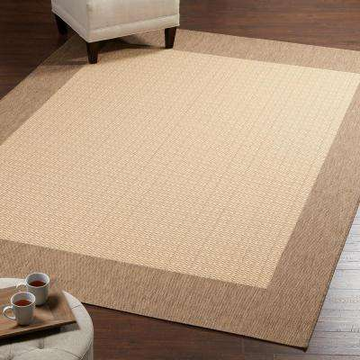 Checkered Field Natural 7 ft. 6 in. x 10 ft. 9 in. Area Rug