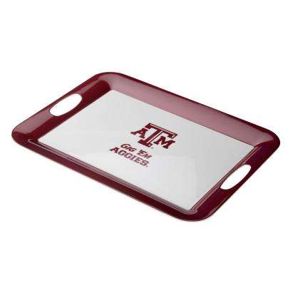 Serve 'n Score Texas A&M Party Platter, 16-Inch by 12.5-Inch, Maroon