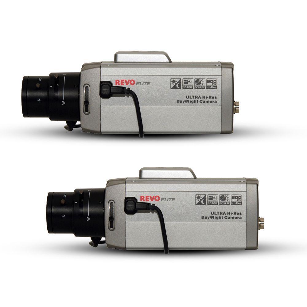 Revo Elite 600TVL Indoor Box Surveillance Cameras (2-Pack)