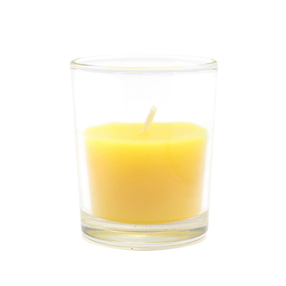 3 by 3-Inch White Citronella Zest Candle Pillar Candles