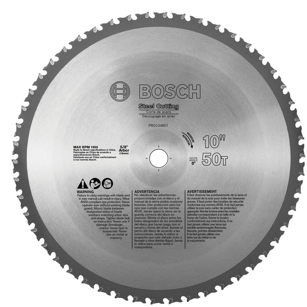 Bosch 10 In Ferrous Metal Cutting Circular Saw Blade