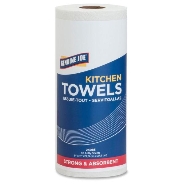 White Perforated Roll Towels 2-Ply (30 per Carton, 85 Sheets per Carton)