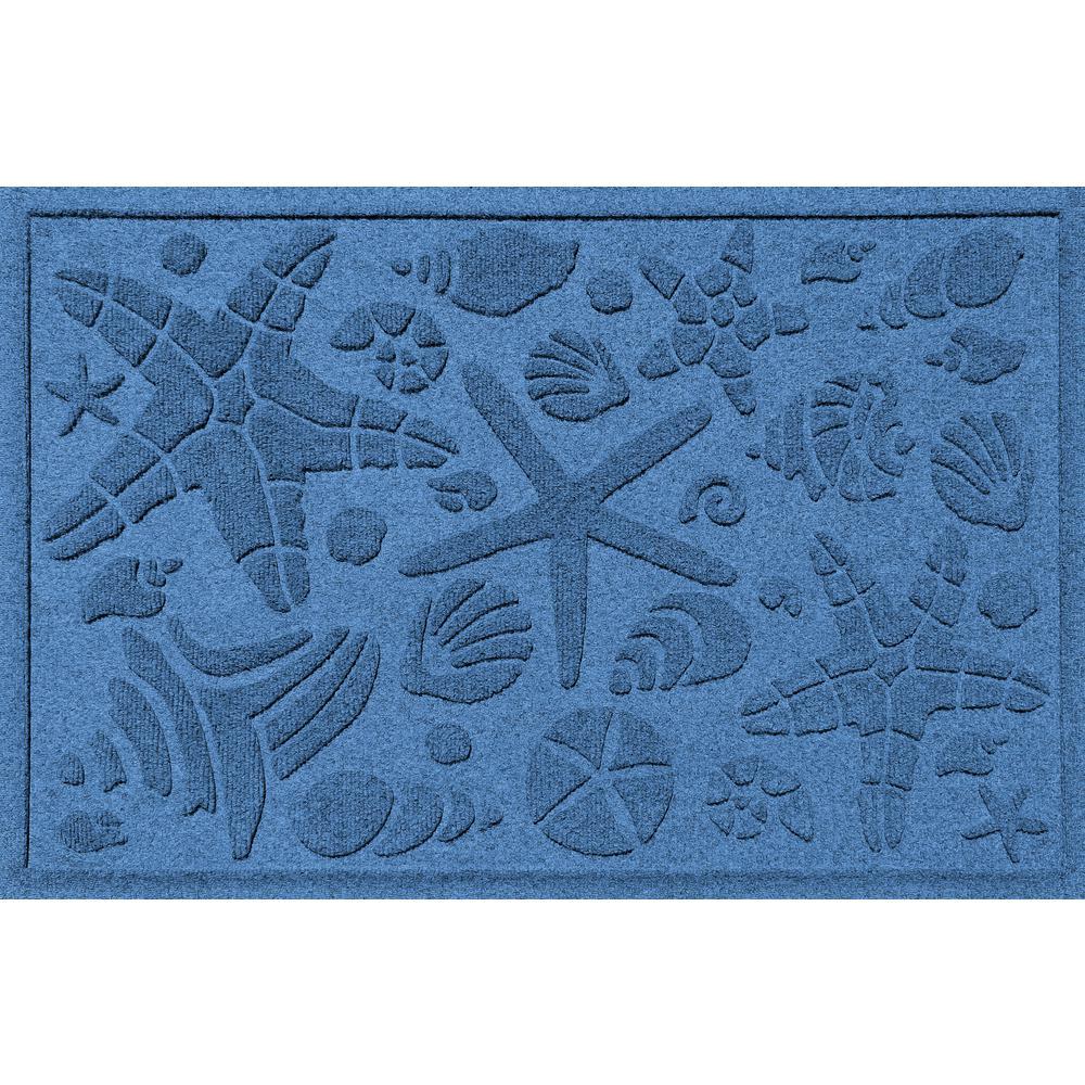 Medium Blue 24 in. x 36 in. Beachcomber Polypropylene Door Mat