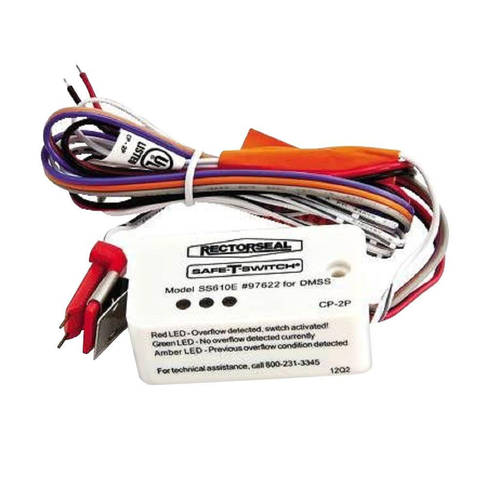 RectorSeal Safe-T-Switch Electronic Condensate Overflow Switch for Ductless Mini-Split Indoor Units