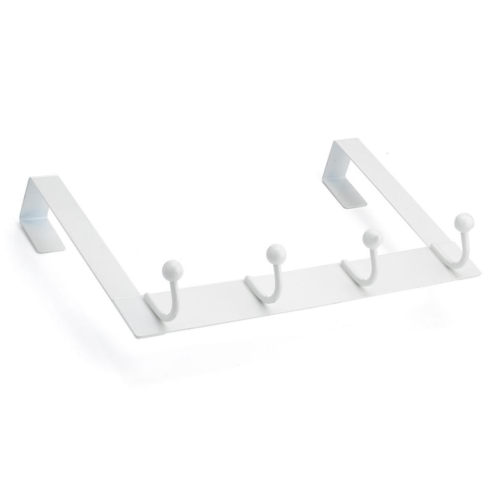 Richelieu Hardware Nystrom Over The Door White Metal 4 Hook Bar