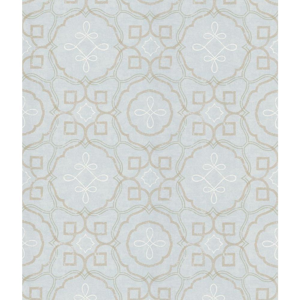 National Geographic Mosaico Slate Spanish Tile Wallpaper Sample