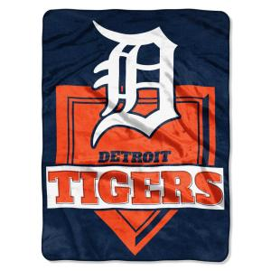 Tigers Multi-Color Polyester Home Plate Raschel Blanket by