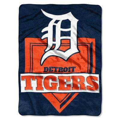Tigers Multi-Color Polyester Home Plate Raschel Blanket