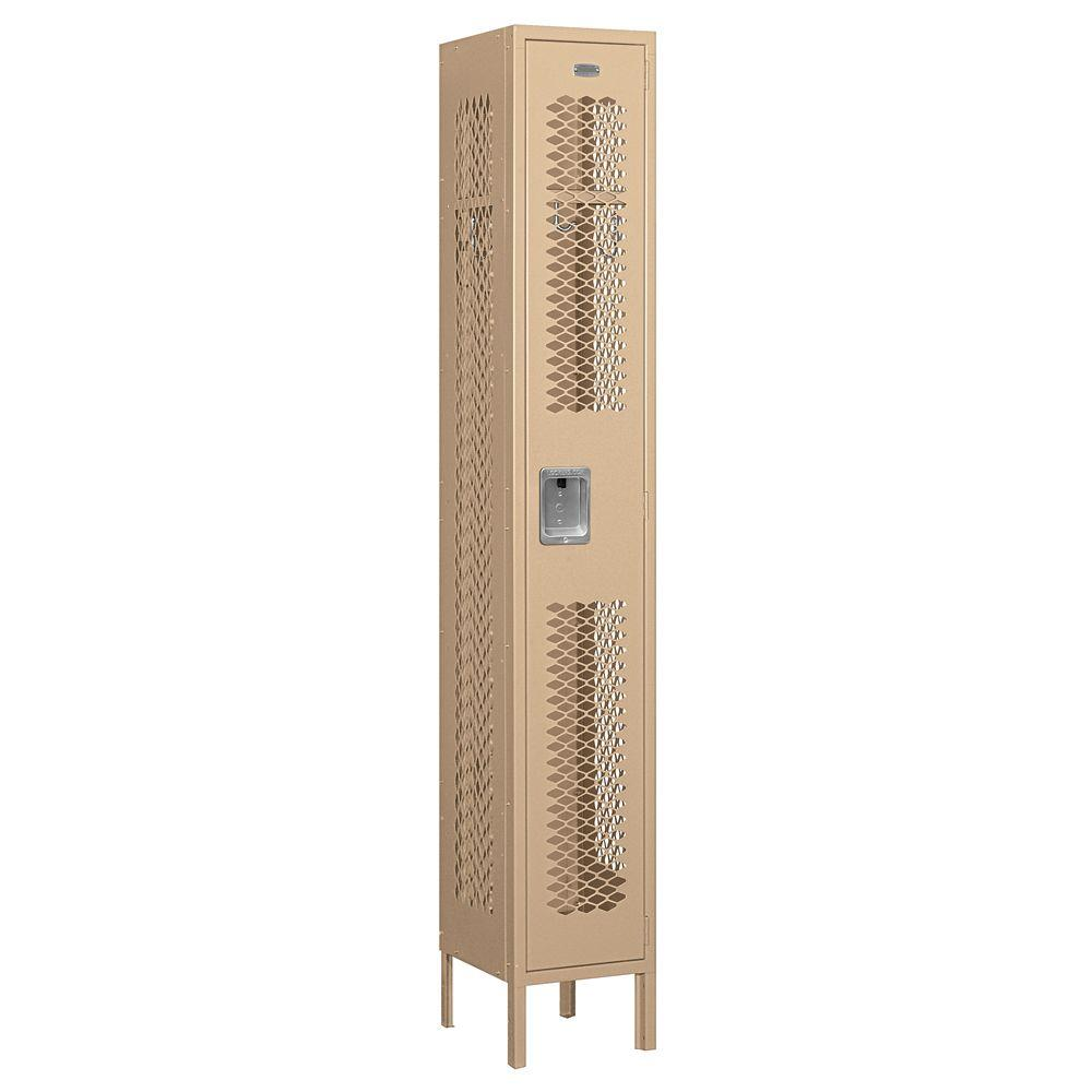 Salsbury Industries 71000 Series 12 in. W x 78 in. H x 12 in. D Single Tier Vented Metal Locker Assembled in Tan