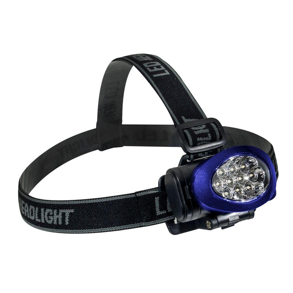 10 LED High Intensity Headlight, Blue