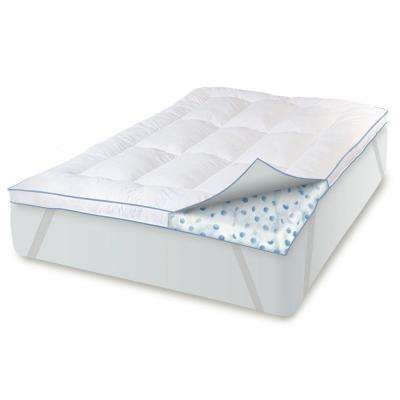 Memory Plus 3 in. King Memory Foam and Fiber Mattress Pad