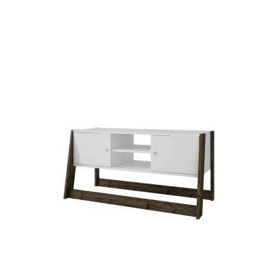 Salvador White and Dark Oak Entertainment Center