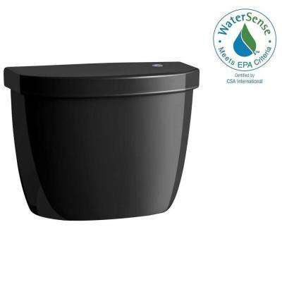 Cimarron Touchless 1.28 GPF Single Flush Toilet Tank Only in Black Black
