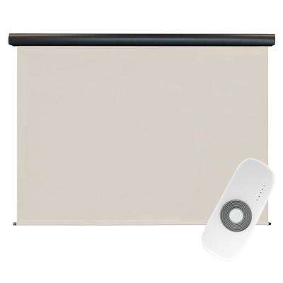 Redondo Elite PVC Fabric Outdoor Roller Shade Rechargeable DC Motor Operated - 120 in. W x 96 in. L