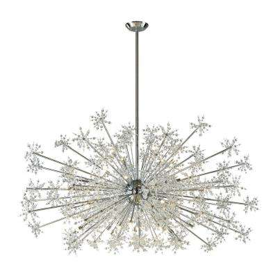 Modern metal halide chandeliers lighting the home depot snowburst 30 light polished chrome chandelier aloadofball Choice Image