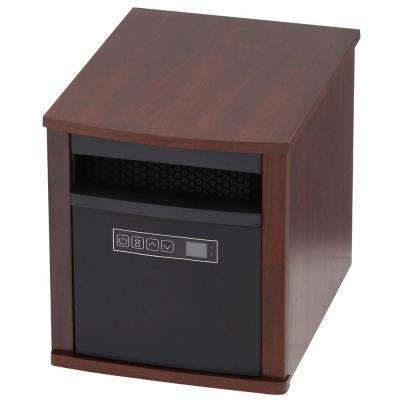 1500-Watt 6-Element Infrared Quartz Electric Portable Heater with Remote Control - Cherry