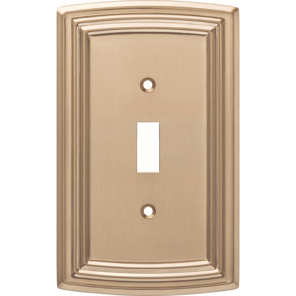 Emery Decorative Single Light Switch Cover, Champagne Bronze