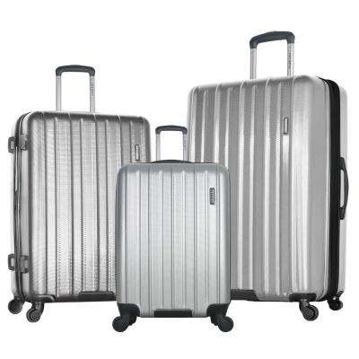 Raven 3-Piece Silver Expandable Hardcase Spinner Set