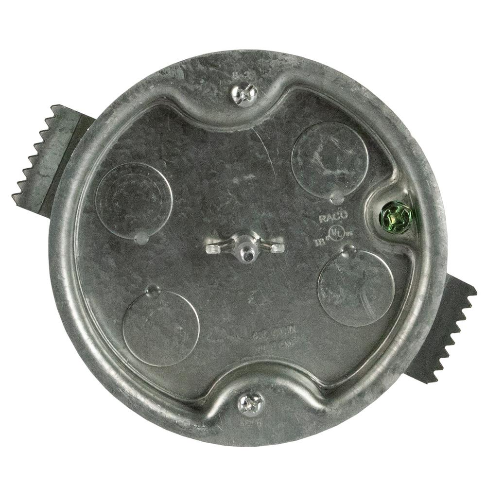 Raco 4 In Round Ceiling Box 1 2 D