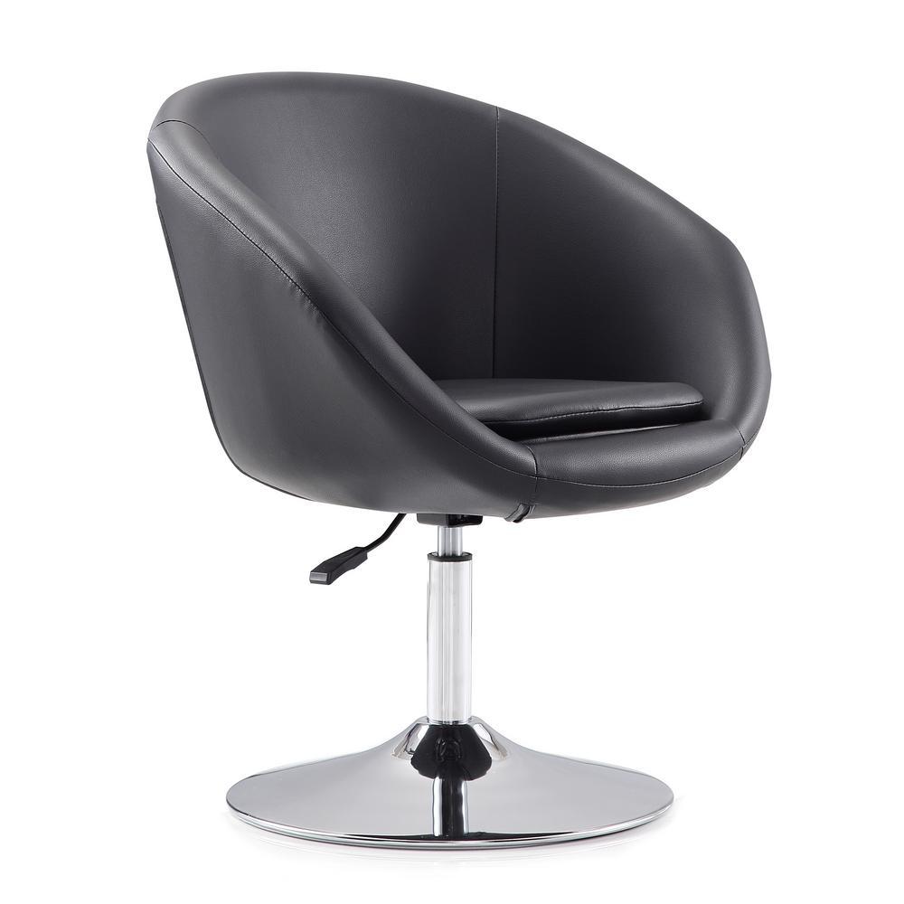 Astonishing Hopper Black Swivel Adjustable Height Leatherette Chair Cjindustries Chair Design For Home Cjindustriesco