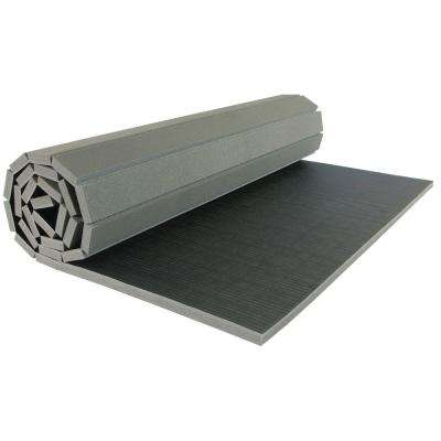 Gmats Vinyl and Foam Black 5 ft. x 10 ft. x 1.25 in. Roll Out Mat