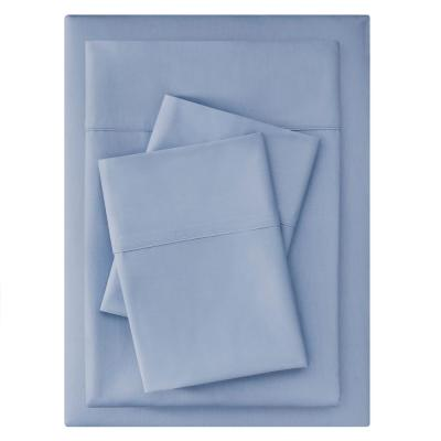 300 Thread Count Easy Care Sateen 4-Piece King Sheet Set in Washed Denim
