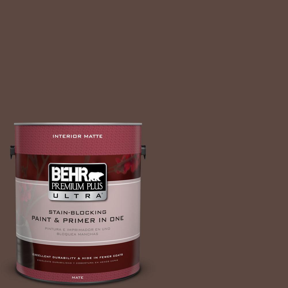 BEHR Premium Plus Ultra 1 gal. #N170-7 Baronial Brown Matte Interior Paint