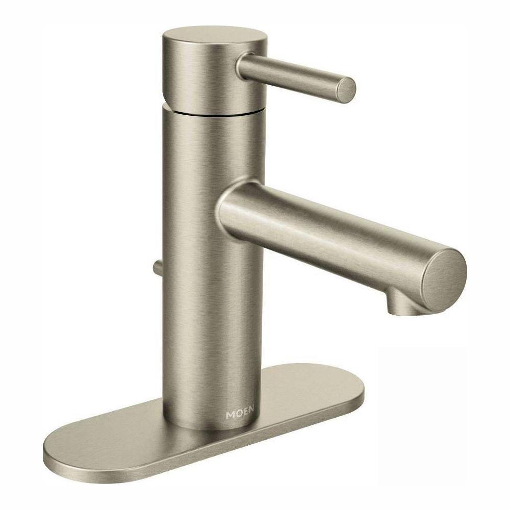 MOEN Align Single Hole Single-Handle Bathroom Faucet in Brushed Nickel