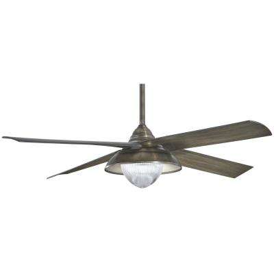 Shade 56 in. Integrated LED Indoor/Outdoor Heirloom Bronze Ceiling Fan with Light with Remote Control