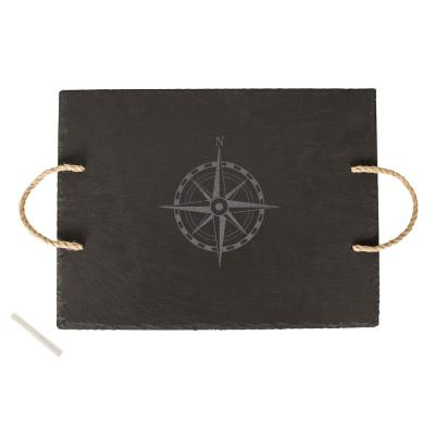 Compass Slate Serving Tray