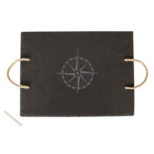 Compass Slate Serving Tray by