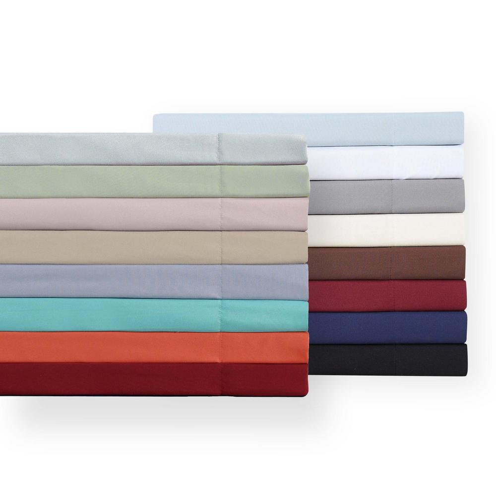 Truly Soft Khaki 4-Piece Solid 180 Thread Count Microfiber King Sheet Set