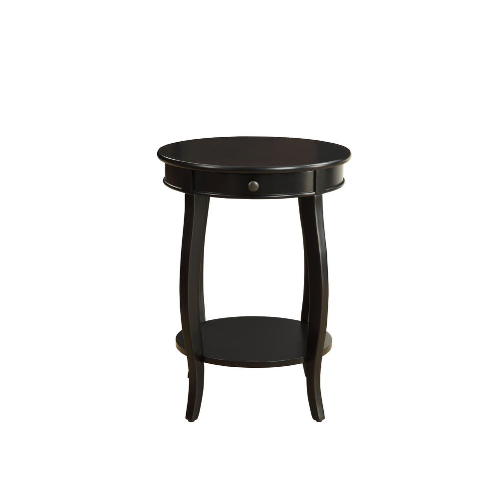 df16249cfcec Acme Furniture Alysa Black Storage Side Table 82812 The Home Depot