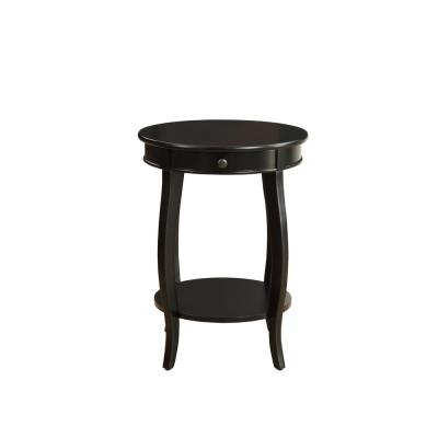 Alysa Black Storage Side Table