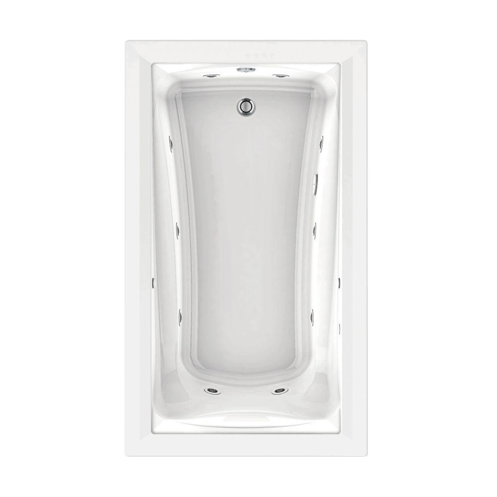 American Standard Green Tea 6 ft. x 42 in. Reversible Drain EcoSilent EverClean Whirlpool Tub with Chromatherapy in White